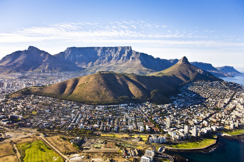 Cape Town and Table Mountain Aerial |