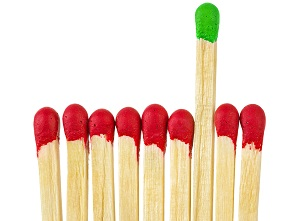 Matches - leadership concept